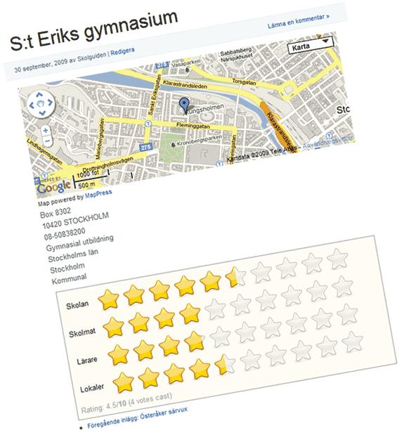 Exempel på skola, betyg, profil